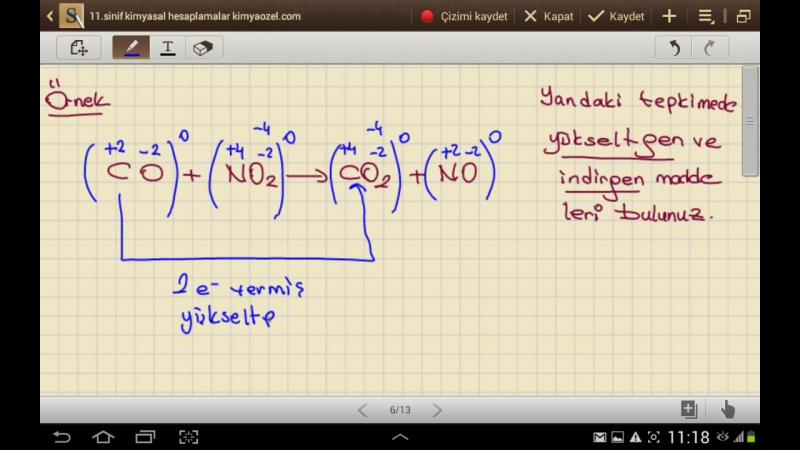 Kimyasal Hesaplamalar 3 (Tepkime Türleri )