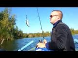 Ловля окуня на искусственном водоеме(карьере)Perch fishing on the lake.