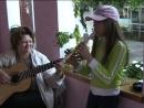 девочка с флейтой хорошо поет , готовимся к победе на фестивале авторской песни