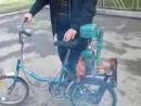 Переделка велосипеда с установкой двигателя от пилы дружба