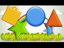 Shape song for early learners (circles, squares, triangles, stars)