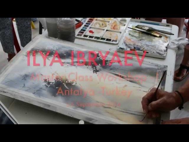 Watercolor Ilya Ibryaev Masterclass I Antalya Lıght and Trees