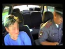 Полицейские задержали пьяную бабу за рулем с тремя детьми