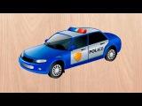 Машинки мультики. Полицейская машинка. Скорая помощь и другие машинки. Мультик пазл.