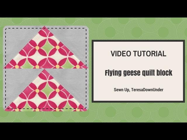 Video tutorial make 4 flying geese blocks at once