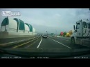 LiveLeak - Tappan Zee Bridge Accident  -One Lucky Guy-