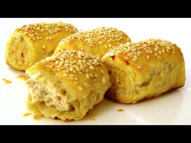 Пирожки с мясным фаршем. Sausage rolls.