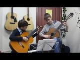 Ф. Карулли Ансамбль для 2х гитар C-dur. Елисей Алексеев (ученик) и Виктор Вишневский (преподаватель)