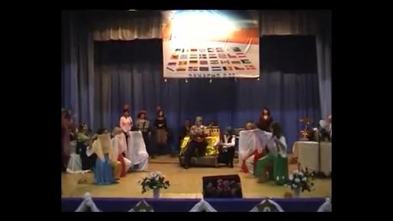 Еврейская мессианская община Алия 2010год Пурим Шпиль часть 1