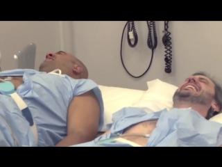 два парня прошли эксперимент и испытали на себе что ощущают женщины во время родов)))