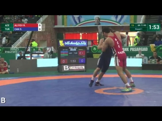 Талыши онлайн - Round 1 GR - 71 kg_ R. ALIYEV (AZE) df. S. CAN (TUR) by TF, 9-0