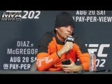 Лучшие моменты с пресс-конференции Нэйта Диаза после боя с Конором Макгрегором на UFC 202
