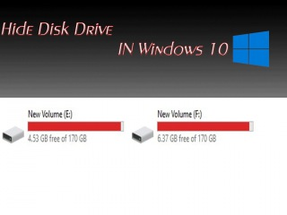 How to Hide Disk Drive Using Gui and Command Prompt in Windows 10
