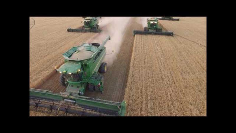 2016 Idaho Barley Harvest, Taylor Foster Farms, John Deere