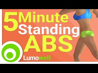 5 Minute Standing ABS - Flat Stomach Exercises to Lose Belly Fat