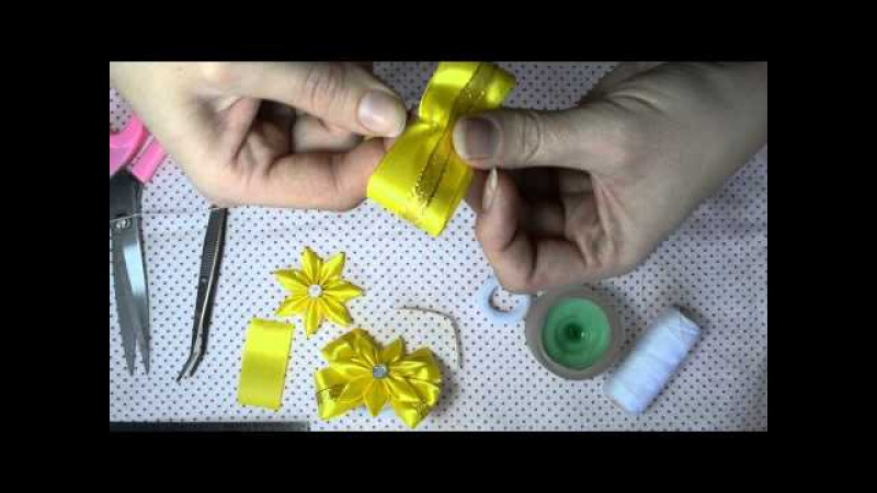 DIY Резинки канзаші з бантиком .Легко та швидко.
