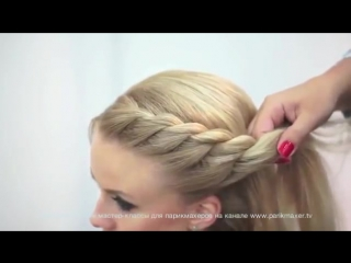 Мастер класс «Техника плетения кос»-красивая коса