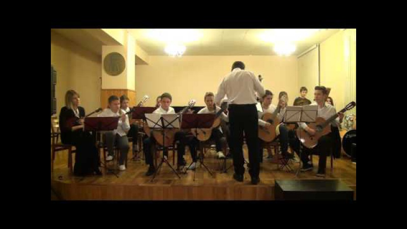 Guitar Orchestra plays Other Dimensions By Richard Charlton and Irish Folk Song Swallow Tail Jig