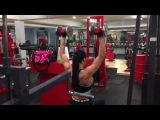 Olga Kickenberg Shoulder Workout Intense Giant set - Bikini Fitness Model IFBB