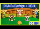 Five Little Monkeys Jumping on the Bed - ELF Learning - Nursery Rhymes