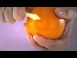 Лайфхак: как быстро почистить апельсин