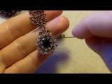 Sidonia's handmade jewelry - How to bezel an 8mm Swarovski chaton