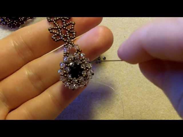 Sidonias handmade jewelry - How to bezel an 8mm Swarovski chaton