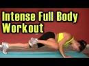 Full Body Workout High Intensity Fat Burn Cardio Training. Home Beginners Video