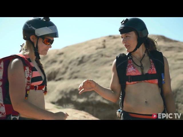 БейсДжампинг Крутые девчонки в бикини | (Moab Monkeys Ep. 1)