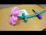 Цветок большой ромашки из воздушных шаров - инструкция