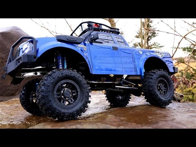 RC ADVENTURES - FORD GMade Komodo 4x4 Truck w/100mm KiNG Shocks - Rock Trailing on Slippery Rocks
