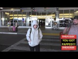 Sarah Snyder who is dating Jaden Smith arriving at LAX Airport in Los Angeles