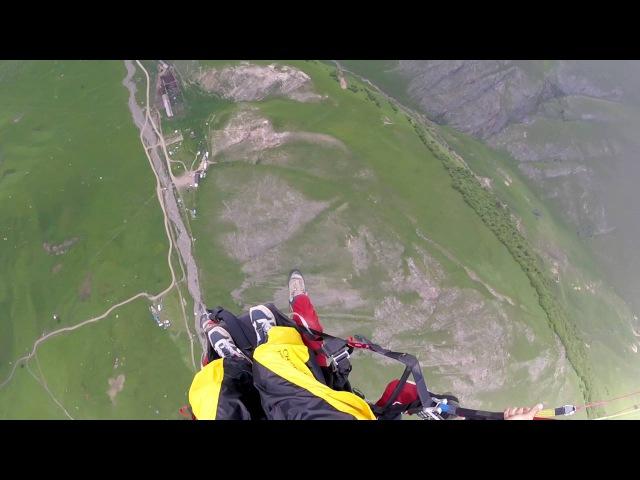 SkyBASE. Paraglider. Chegem gorge