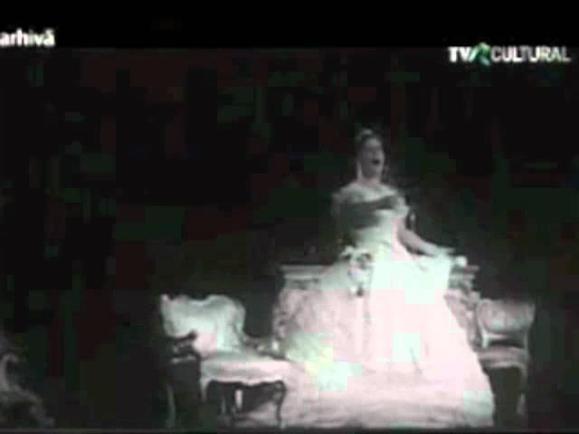 La Traviata Virginia Zeani Violetta supreme, in a rare Romanian live movie 1965