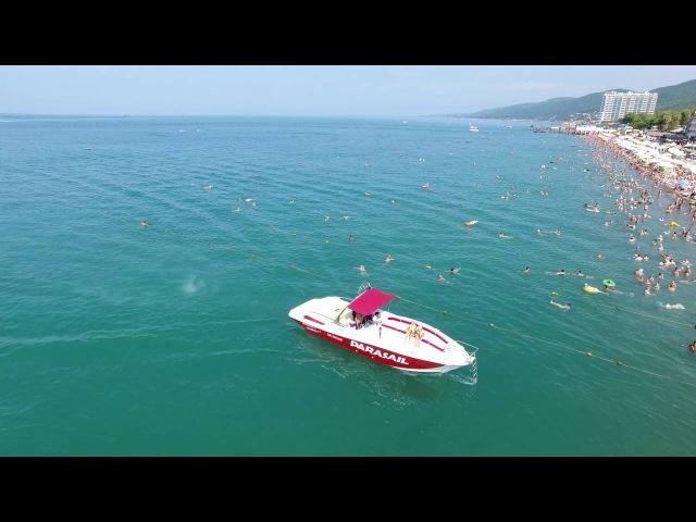 Сочи Лазаревское пляжи занявшие 1 место по количеству отдыхающих в России 4К(пол ...