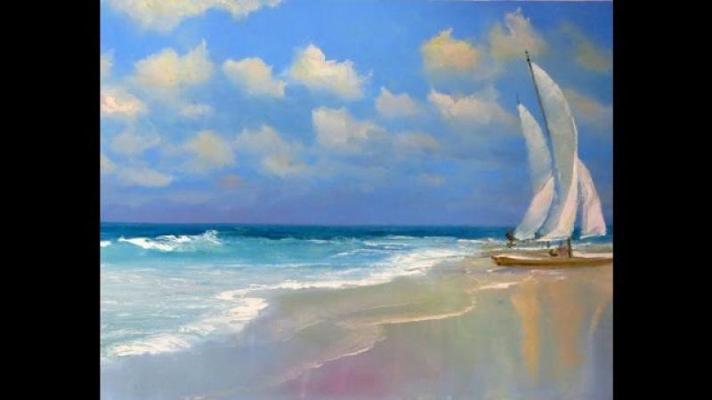 Как легко нарисовать Море масляными красками Онлайн урок Любы Дикер