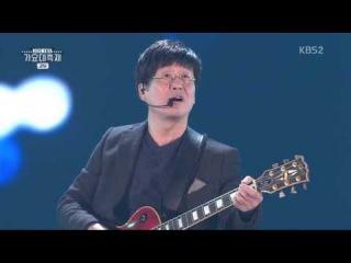 151230 Kim Chang Wan BAND (김창완밴드) & Jung Yong Hwa (정용화) - 그대 떠나는 날 비가 오는가 @ 2015 KBS 가요대축&