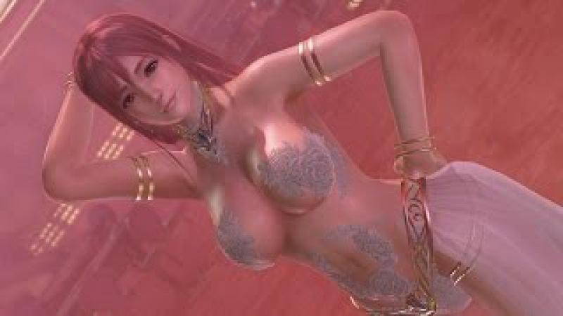 DOAX3 Honoka POLE DANCE (DEAD OR ALIVE XTREME 3 ほのか ポールダンス 水着:マティーニ、髪型:ロング)