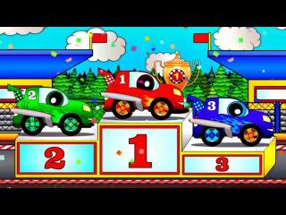 Eğlenceli çizgi film - Rengarenk bir dünya - Araba yarışı
