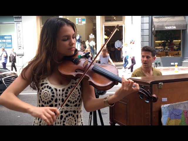Spontaneous Street Piano and Violin Duet in New York City with Ada