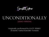 Unconditionally (Acoustic Guitar Karaoke) Katy Perry