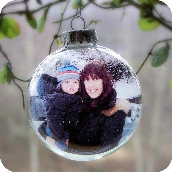 Новогодние шары из фотографий своими руками