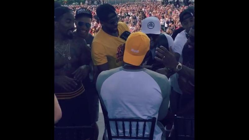 Showing the MVP that brotherhood love. OneForTheLand NBAChampions