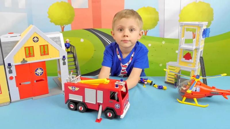 Пожарный Сэм и пожарная машина Юпитер в магазине игрушек Ярик76.рф