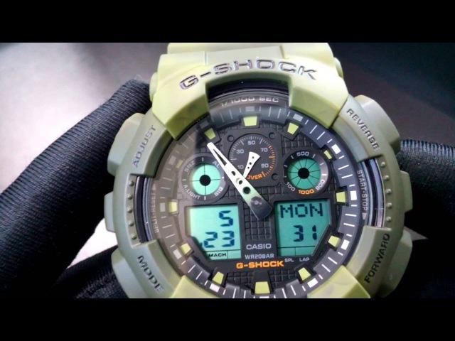 CASIO G-SHOCK GA-100MM-3A. Антиударные часы. Стильный принт. Интернет магазин cs-time.ru