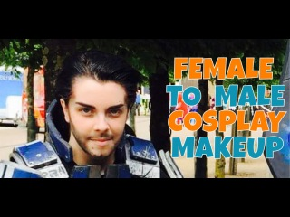 FEMALE TO MALE :: COSPLAY MAKEUP TUTORIAL.