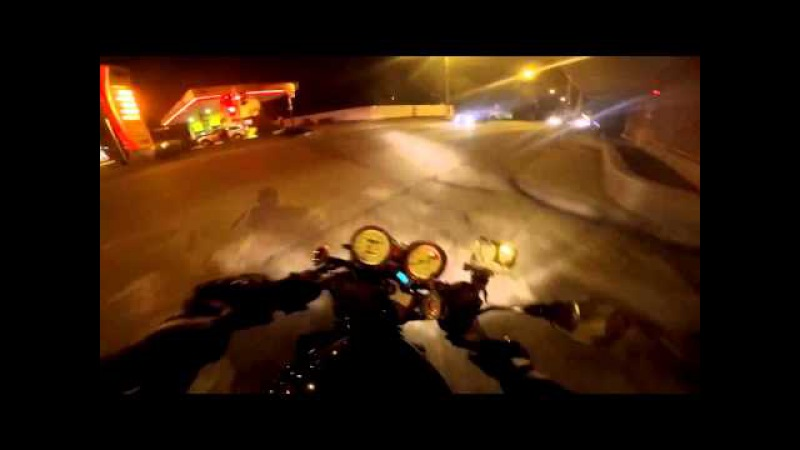 Погоня полиция vs мотоциклист Suzuki Bandit 400