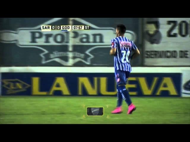 Lesiones de Carabajal y Antonini. Sarmiento 0 - Godoy Cruz 0. Fecha 7. Primera División 2016.