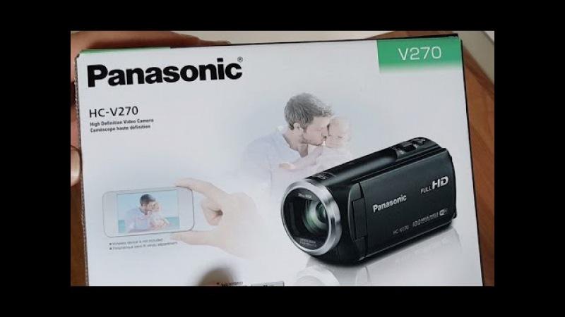 Анбоксинг Panasonic HC-V270 Camcorder первые впечатления. Влог.