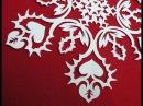 Как вырезать снежинку Рисуем узор